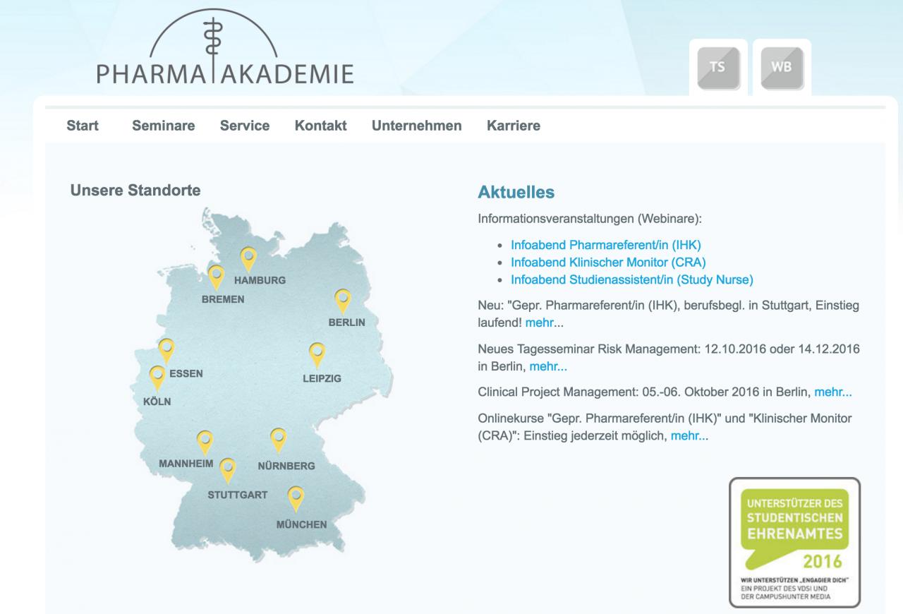 Lernmodule in Deutschland exklusiv bei Pharmaakademie Dresden